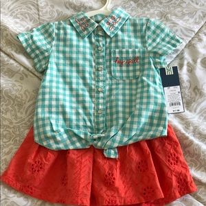 Osh Kosh top and matching skirt